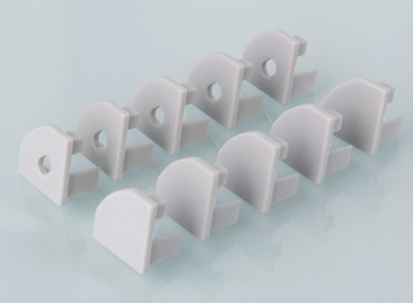 Комплект заглушек для углового алюминиевого профиля для светодиодной ленты