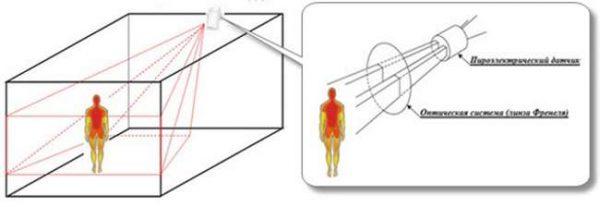 Область определения человека сенсором