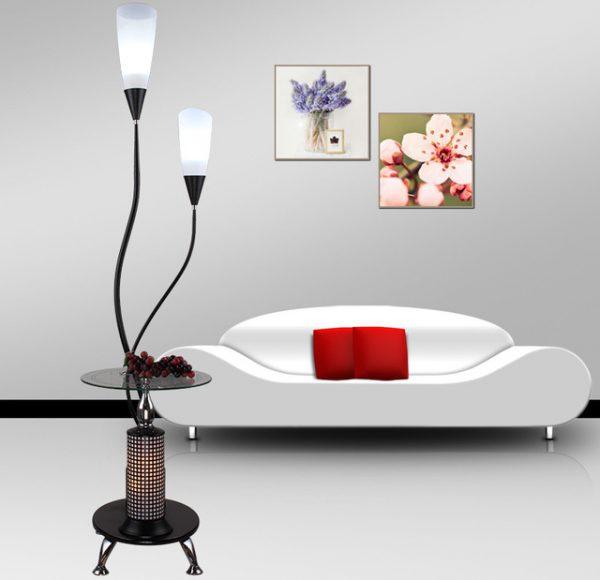 Декоративный напольный светильник со столиком