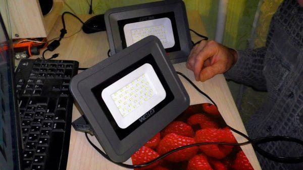 Проверка работоспособности светодиодного прожектора