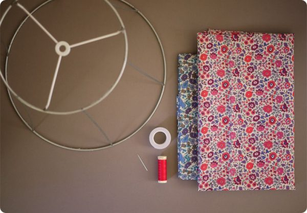 Материалы для изготовления абажура из ткани