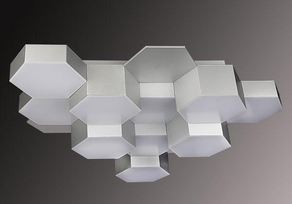 Авангардная комбинированная потолочная люстра