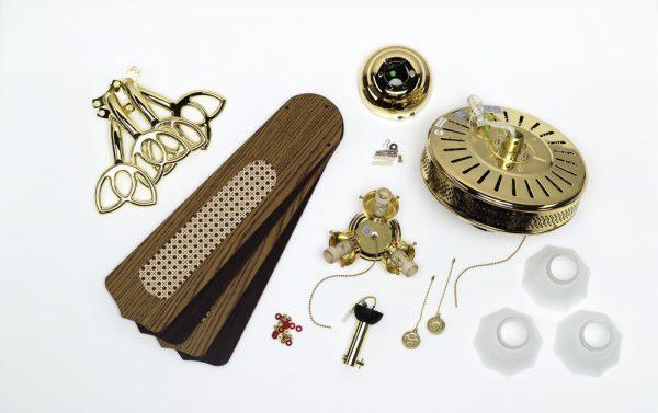 Конструкция люстры с вентилятором