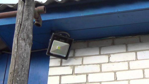 Выбор места для установки светодиодного прожектора