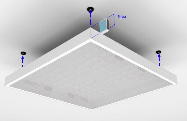 Монтаж плоского потолочного светильника