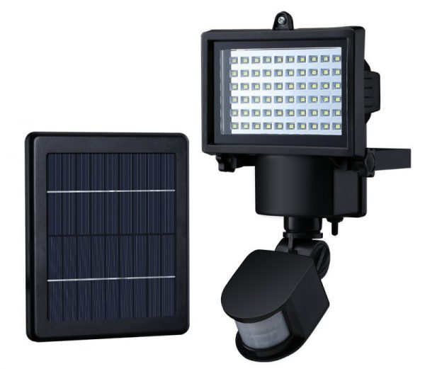 Настенный LED-прожектор с солнечной батареей
