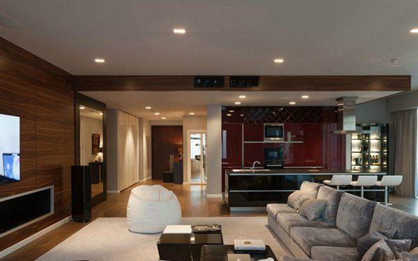 Освещение квартиры с помощью точечных светильников