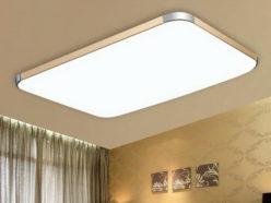 Потолочный светильник в интерьере комнаты