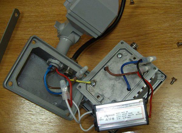 Проверка работоспособности прожектора с новым драйвером