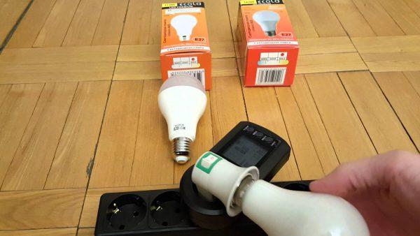 Проверка светодиодной лампочки