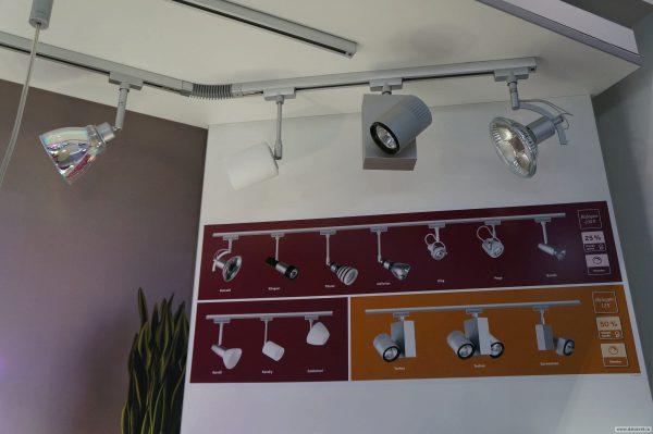 Для установки спотовых светильников требуется дополнительная электропроводка или специальные шины