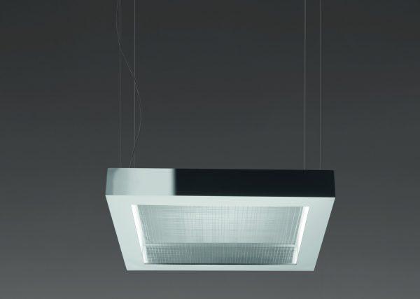 Квадратный подвесной светильник с металлическим корпусом