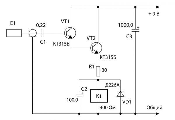 Схема сенсорного выключателя для светодиодной ленты