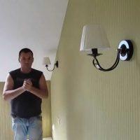Монтаж настенного светильника