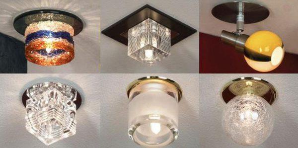Виды наружных точечных светильников