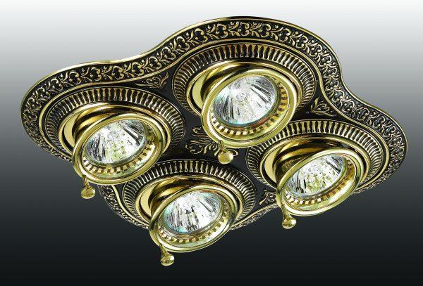 Винтажный точечный светильник с четырьмя лампами
