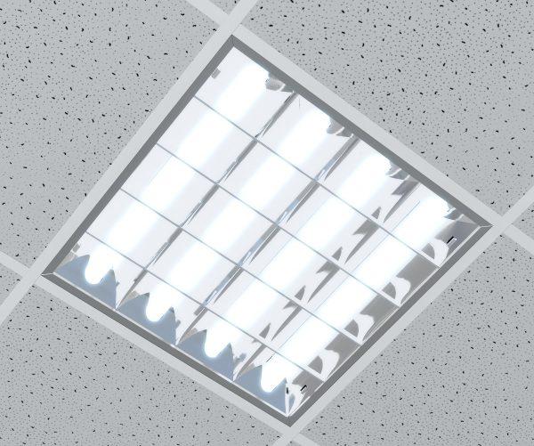 Врезной люминесцентный светильник