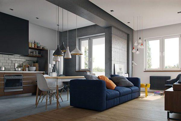 Правильное освещение в квартире-студии