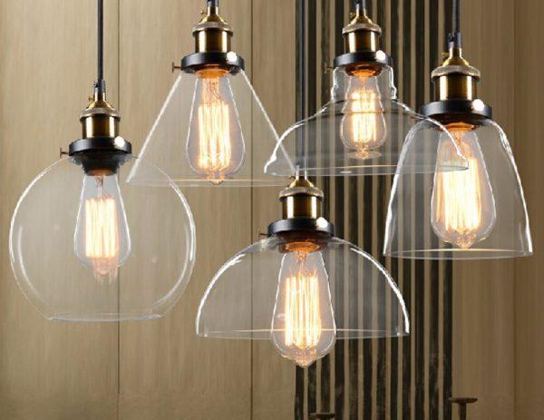 Кухонные светильники со стеклянными плафонами