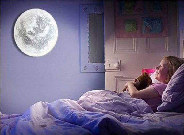 Самодельный ночной светильник в виде луны