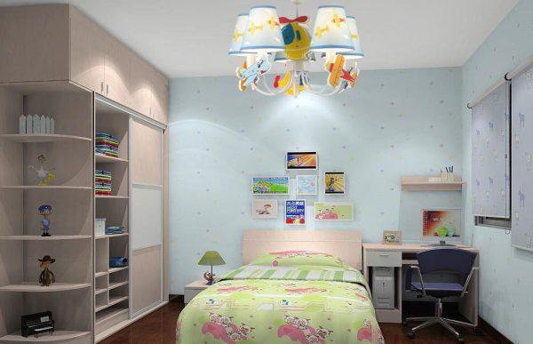 Люстра в детской комнате должна обеспечивать качественное основное освещение