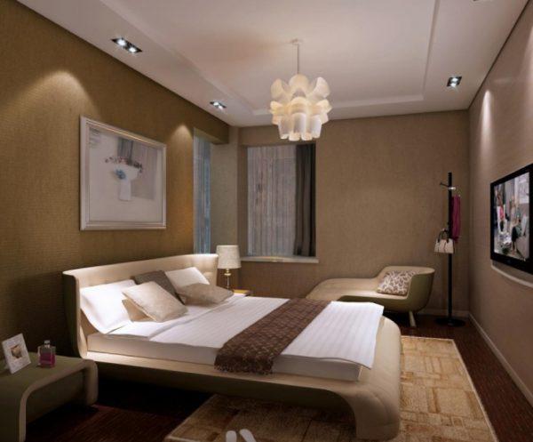 Организация освещения в спальне требует особого внимания