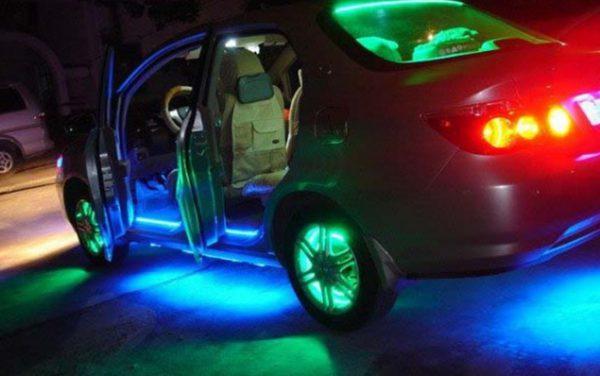 Подсветка автомобиля LED-лентой