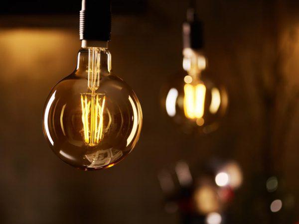 Филаментные лампы для подсветки витрин
