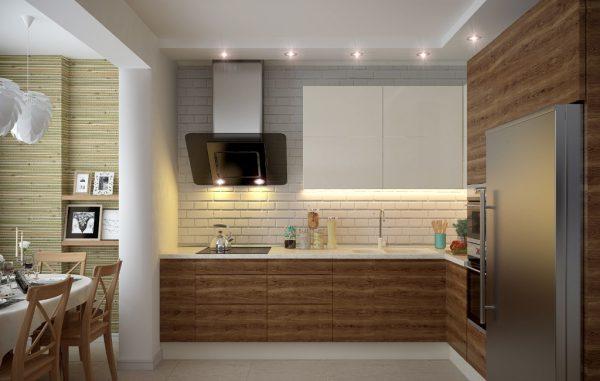 Комбинированная подсветка рабочей зоны на кухне
