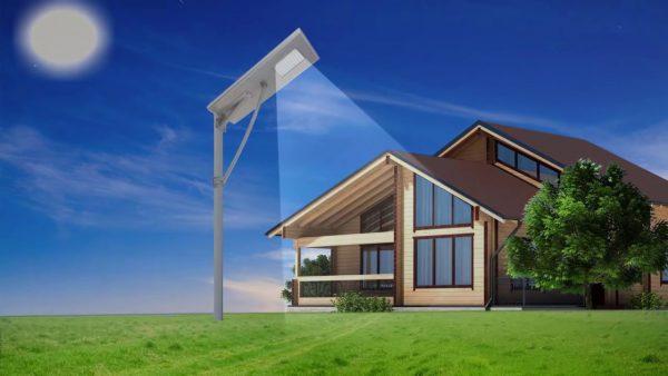 Освещение территории частного дома светодиодным фонарем