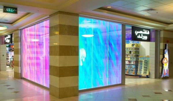 Подсветка витрин RGB-лентой