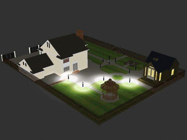 Проект освещения загородного участка