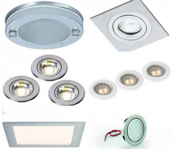 Виды точечных светильников для кухни