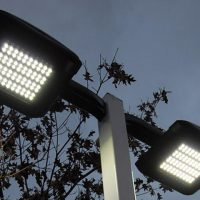 LED-фонарь на столбе