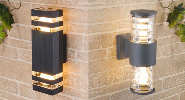Настенные светильники для освещения территории загородного дома