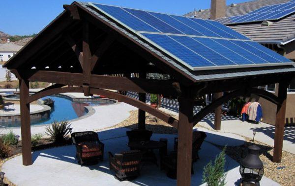 Беседка с солнечными батареями