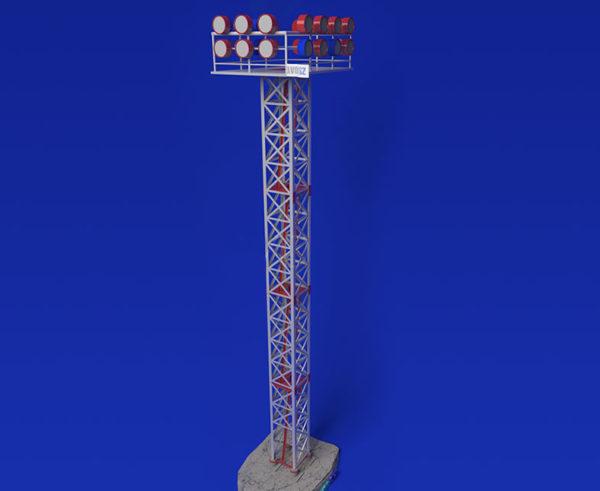 Мачта освещения высотой 28 метров