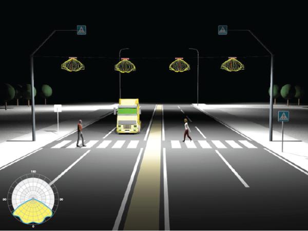 Освещение пешеходных зон