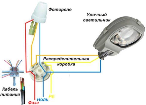 Использование фотореле для организации уличного освещения