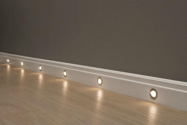 Точечные LED-светильники для подсветки пола