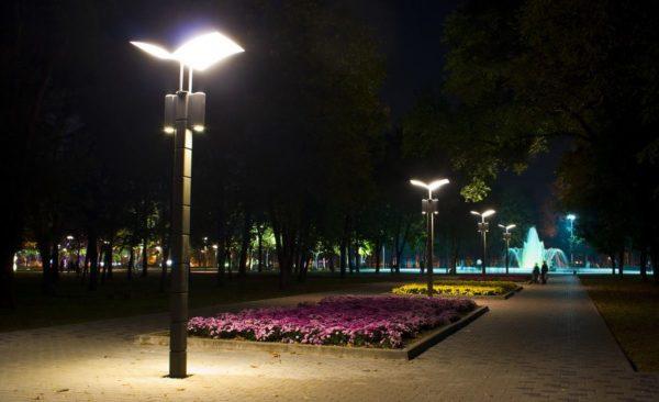 Светодиодное освещение в парке
