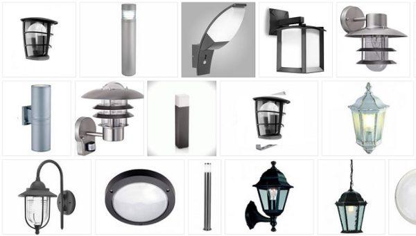 Разновидности уличных светильников для загородного дома