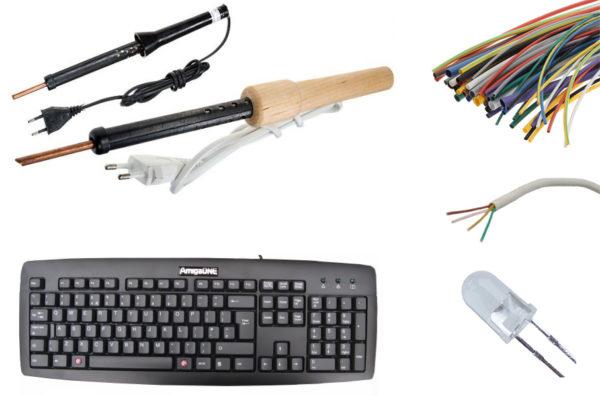 Изготовление гирлянды из старой клавиатуры