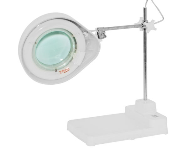 Люминесцентный настольный светильник с кольцевой лампой