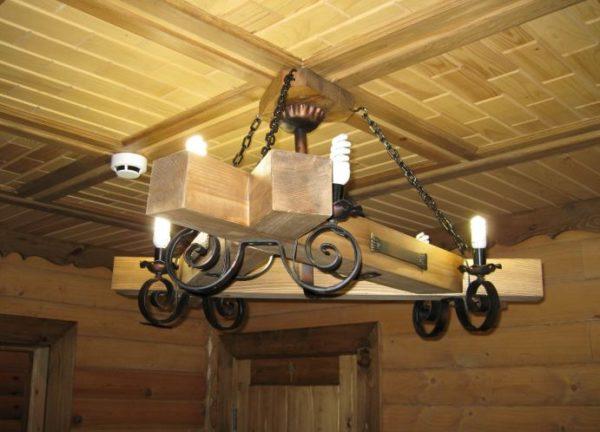 В деревянных светильниках не рекомендуется использовать лампы накаливания
