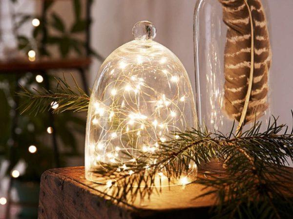 Праздничный новогодний светильник своими руками