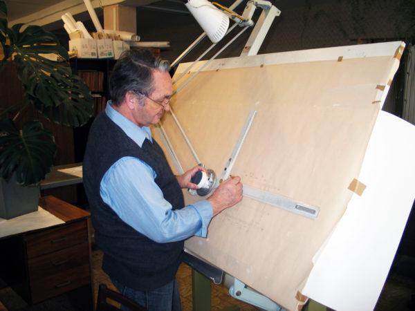 Освещение рабочего места чертежника