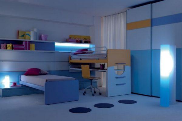 Подсветка мебели в детской комнате