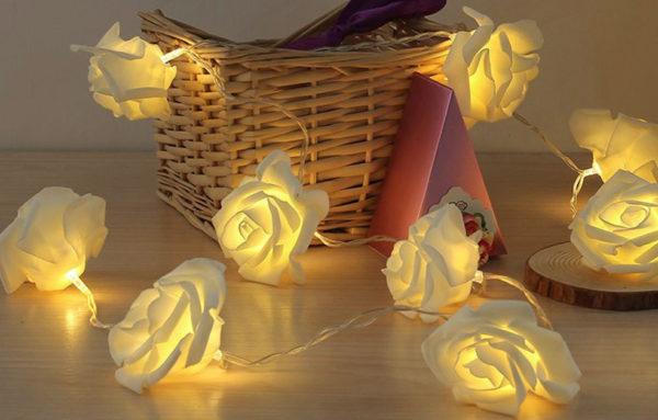 Праздничные светильники в виде цветов