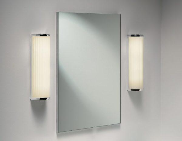 Светильники по краям зеркала